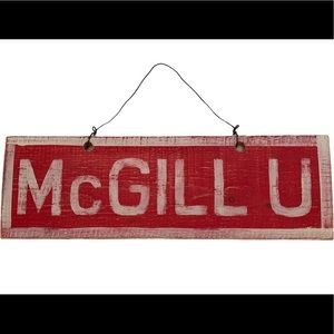 McGill University brandy Melville wood sign wall